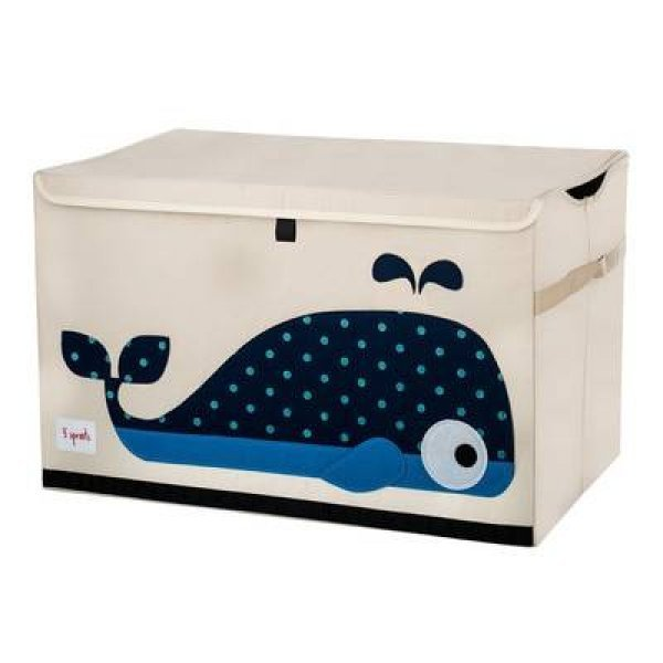 3sprouts Kids Toy Chest, Whale - Large Storage for...