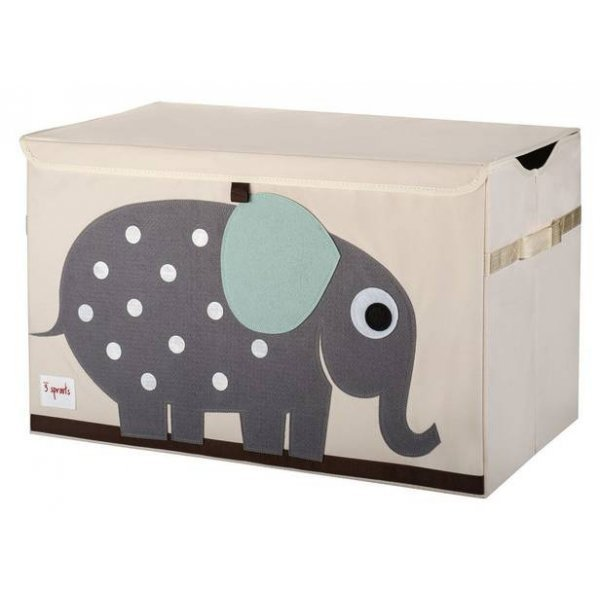 3 Sprouts Kids Toy Chest, Elephant - Large Storage for Boys and Girls Room