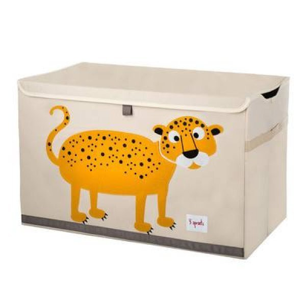 3sprouts Kids Toy Chest, Leopard - Large Storage f...