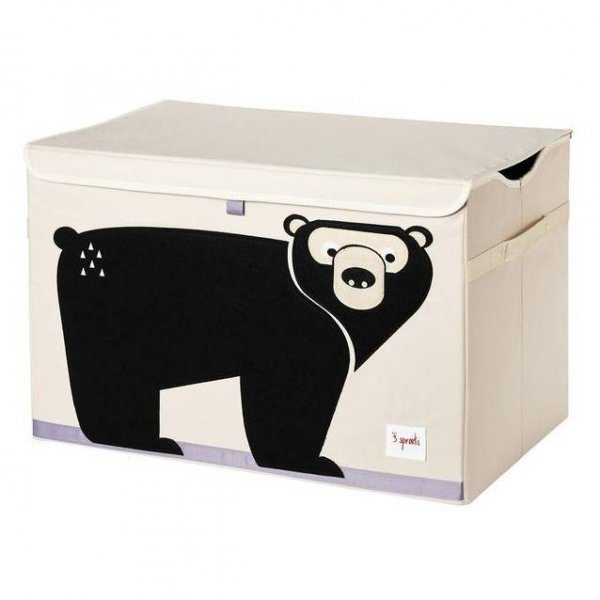 3 Sprouts Kids Toy Chest, Bear - Large Storage for Boys and Girls Room