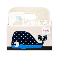 3sprouts Baby Diaper Caddy, Whale - Organizer Bask...