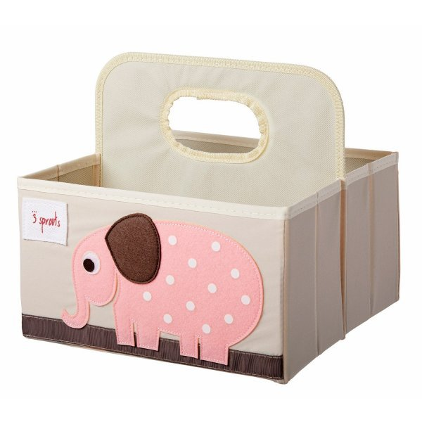 3sprouts Baby Diaper Caddy, Elephant - Organizer Basket for Nursery