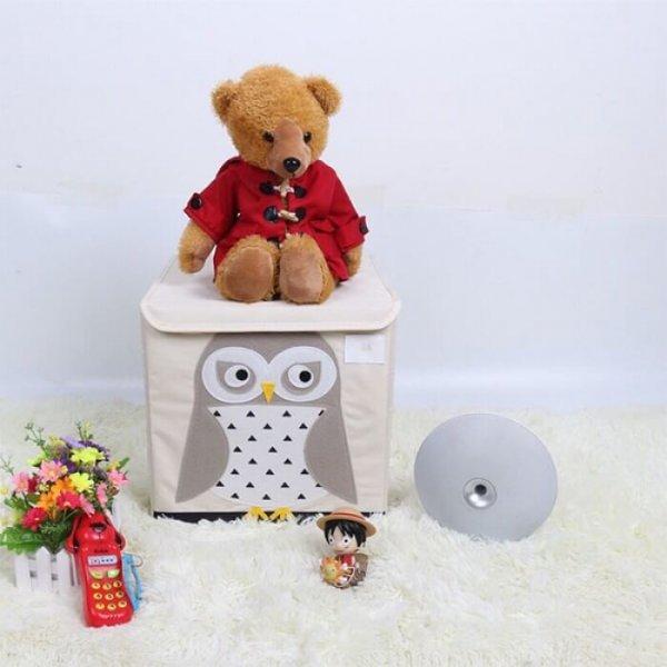 Kocka tároló – rendszerező doboz gyerekszobába - bagoly