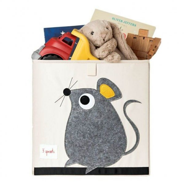 Cube Storage box - organizer container for kids and toddlers - Mouse