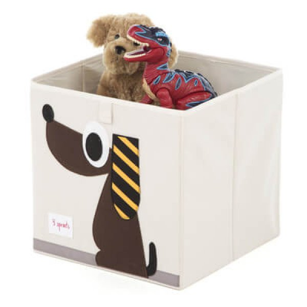 Cube Storage box - organizer container for kids and toddlers - Dog