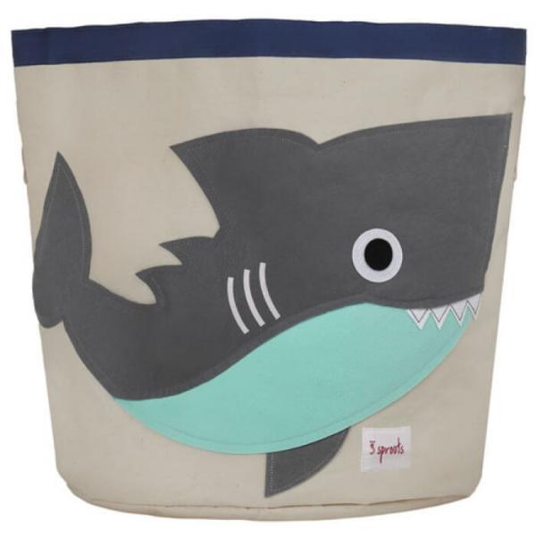 Kerek játéktartó - Cápa