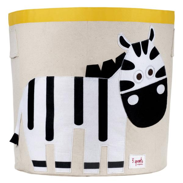 Kerek játéktartó - Zebra