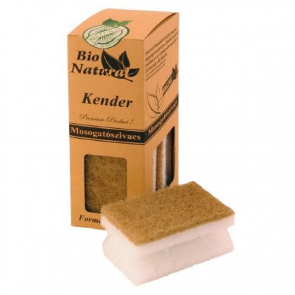Bio Natural formed sponge, hemp, 4 pcs