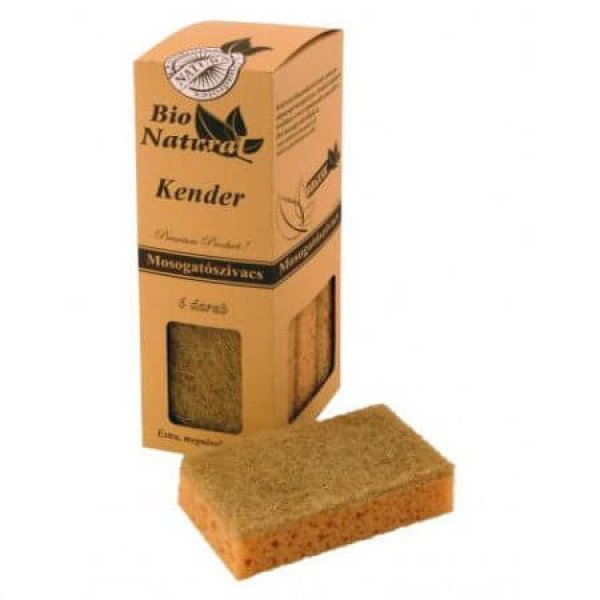 Bio Natural Sponge Hemp 6 pcs