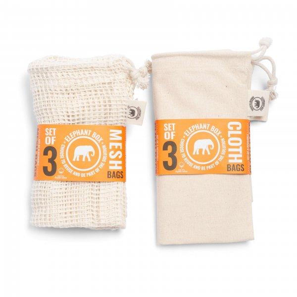 Organikus pamut hálós zsák gyümölcs vagy zöldség vásárláshoz – 3 különböző méretű zsák