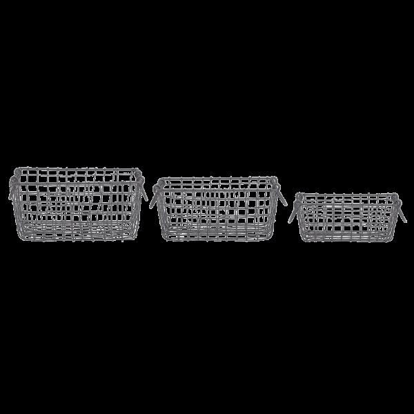 Wire basket rectangular S/M/L