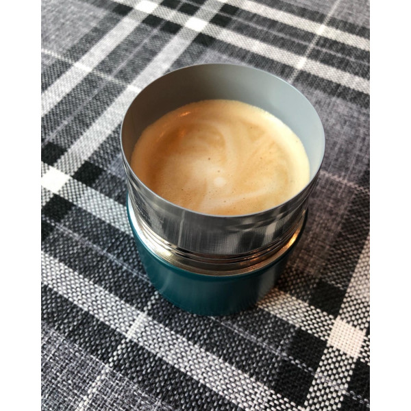 Ceramic reusable cup 175 ml marine blue