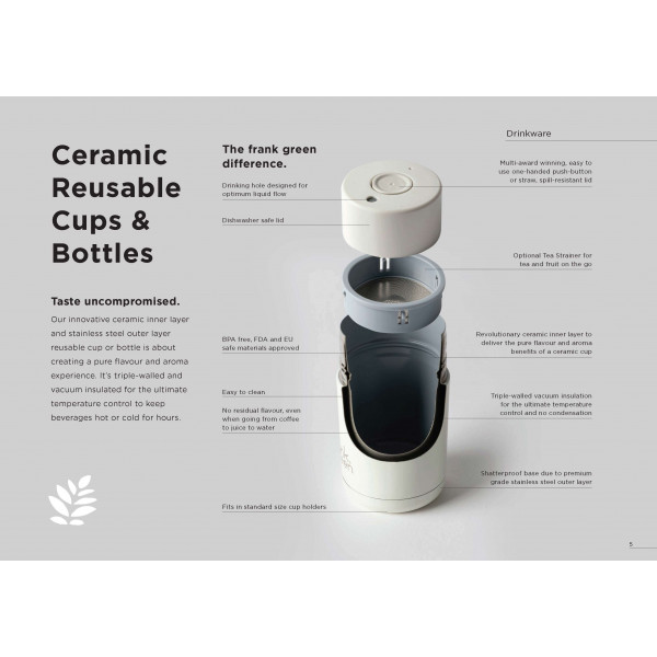 Ceramic reusable cup 595 ml