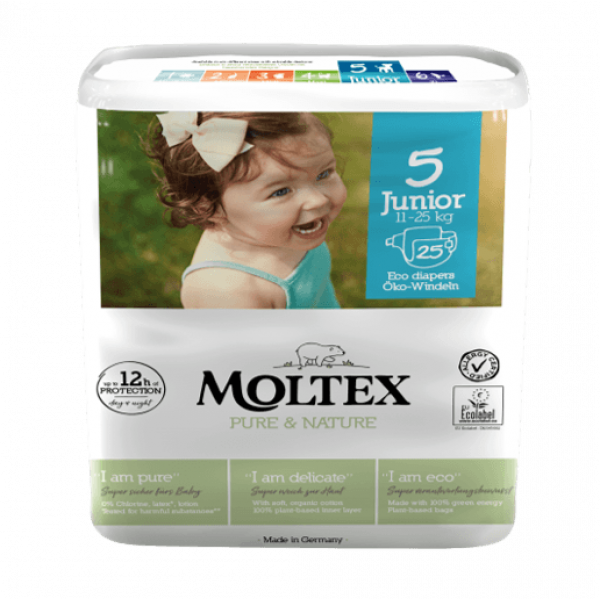 Moltex pure and nature Diapers Junior 11-25 kg 25p...