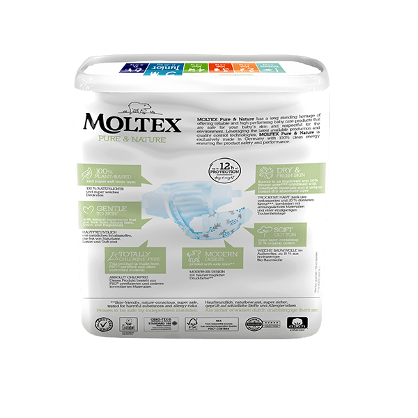 Moltex pure and nature Diapers Junior 11-25 kg 25pcs