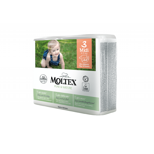 Moltex pure and nature Diapers Midi 4-9 kg 38pcs