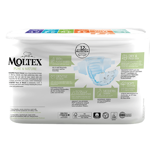 Moltex pure and nature Diapers Mini 3-6 kg 38pcs