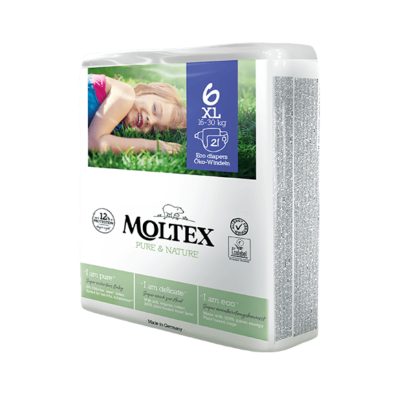 Moltex pure and nature Diapers XL 16-30 kg 21pcs