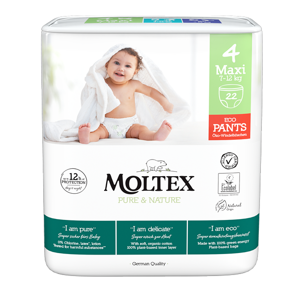 Moltex pure and nature diaper pants Maxi 7-12kg