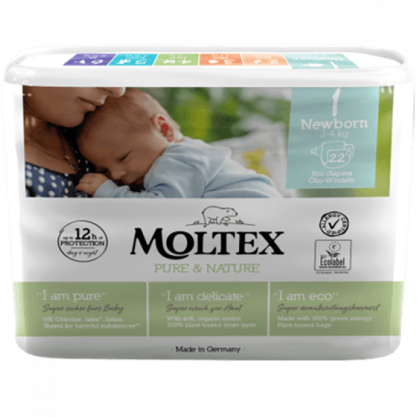 Moltex pure and nature Diapers Newborn 2-4 kg 22pc...