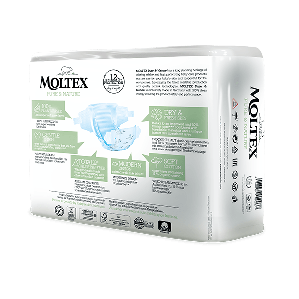 Moltex pure and nature Diapers Newborn 2-4 kg 22pcs