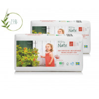 Naty Size 4 plus Eco Nappies For Babies 9-20 Kg ec...