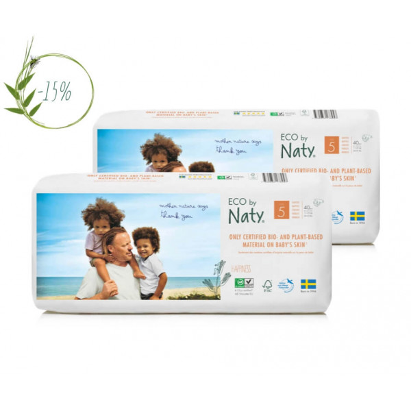 Naty Size 5 Eco Nappies For Babies 11-25 Kg econom...