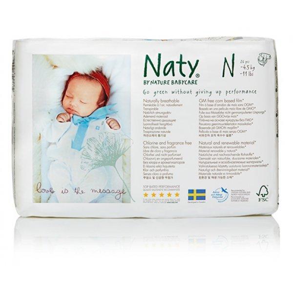 Naty® 0-ás biopelenka újszülötteknek 4,5 kg-i...