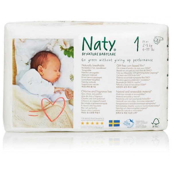 Naty® 1-es biopelenka 2-5 kg (4 csomag! -20% kedvezmény!)