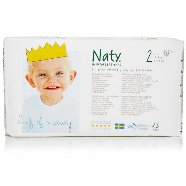 Naty® 2-es biopelenka 3-6 kg (4 csomag! -20% kedvezmény!)