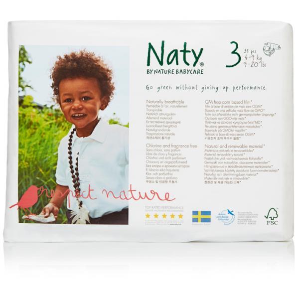 Naty® 3-as biopelenka 4-9 kg (4 csomag! -20% kedv...