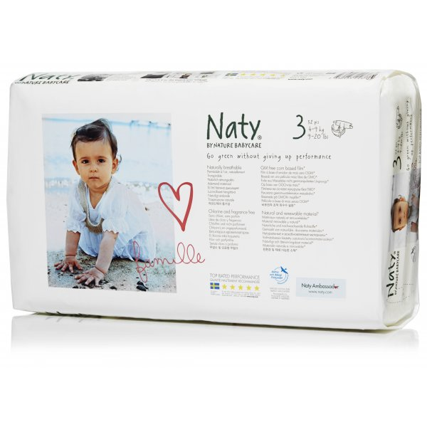 Naty® 3-as biopelenka 4-9 kg ECONOMY PACK 50 db