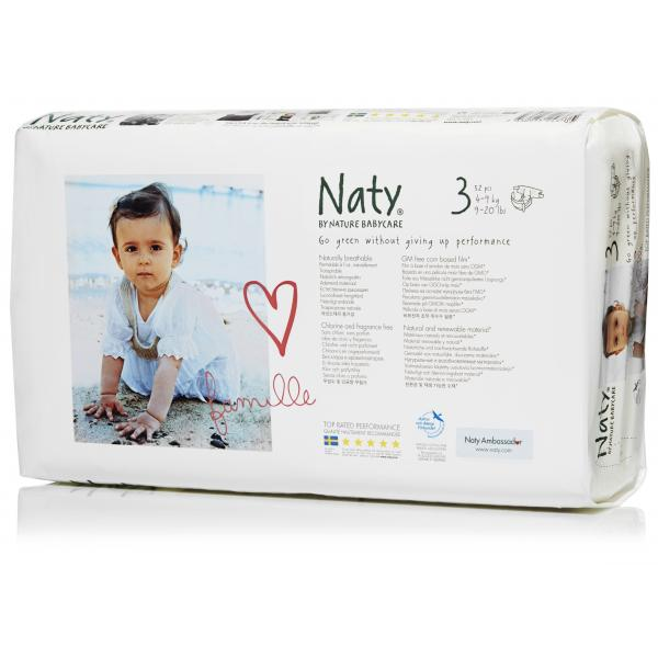 Naty® 3-as biopelenka 4-9 kg ECONOMY PACK 52 db