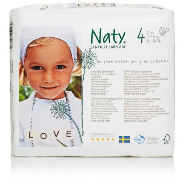 Naty® 4-es biopelenka 7-18 kg (4 csomag! -20% kedvezmény!)