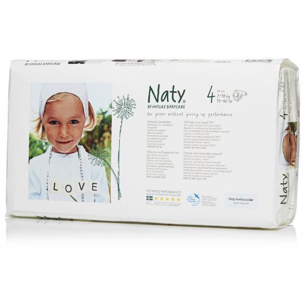 Naty® 4-es biopelenka 7-18 kg, ECONOMY PACK 46 db