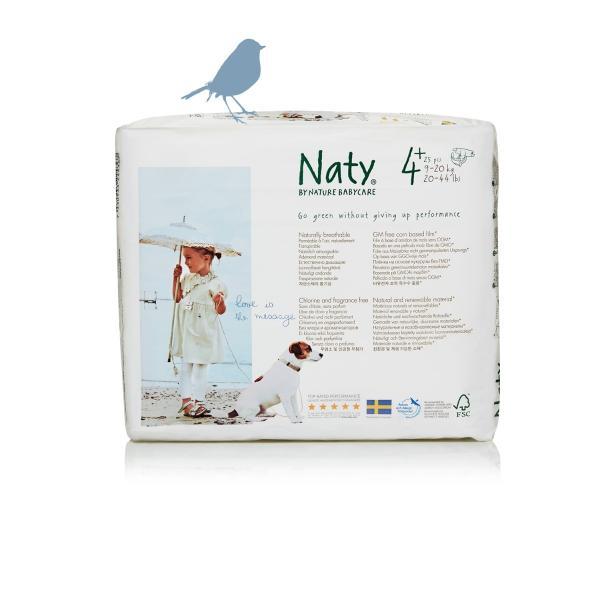 Naty® 4 Pluszos biopelenka 9-20 kg