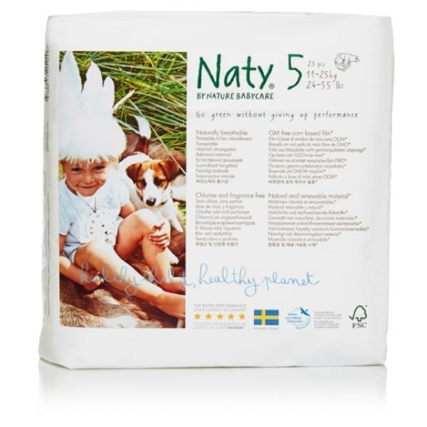 Naty® 5-ös biopelenka 11-25 kg (4 csomag! -20% kedvezmény!)