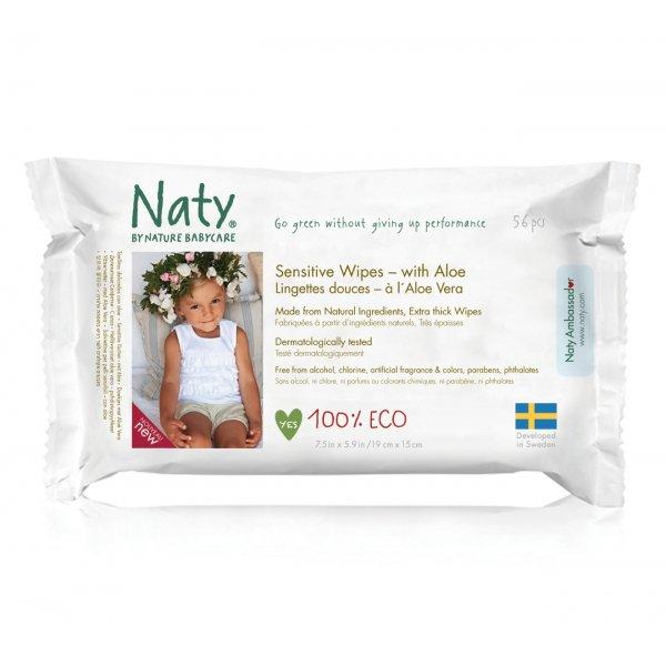 Naty® baba törlőkendő - aloe verás (56 db)