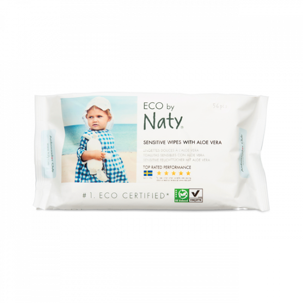 Naty® sensitive wipes  with aloe (56 pcs)