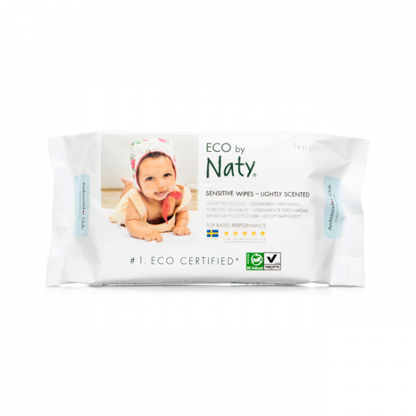 Naty® lightly scented sensitive wipes (56 pcs)