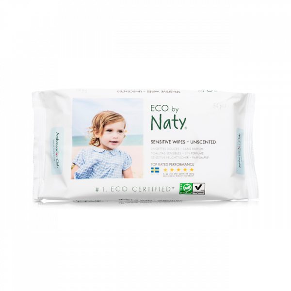 Naty® unscented sensitive wipes triple pack (168 ...