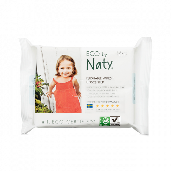 Naty® Eco Wipes - Flushable (42 Ct)