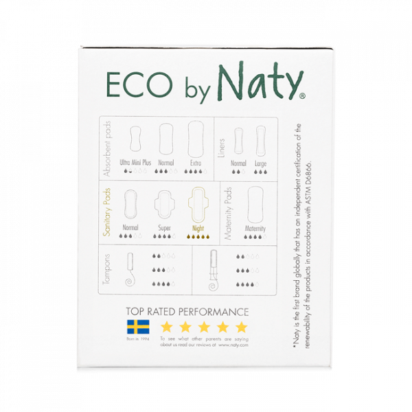 Naty® Eco Thin Pads Night