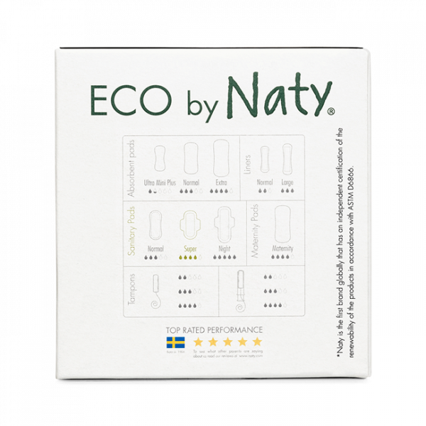 Naty® Eco Thin Pads Super