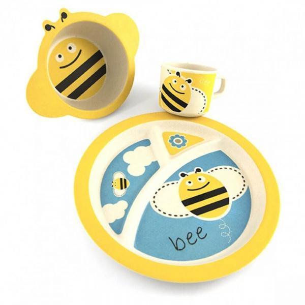 Bamboo Dish Set - Bee