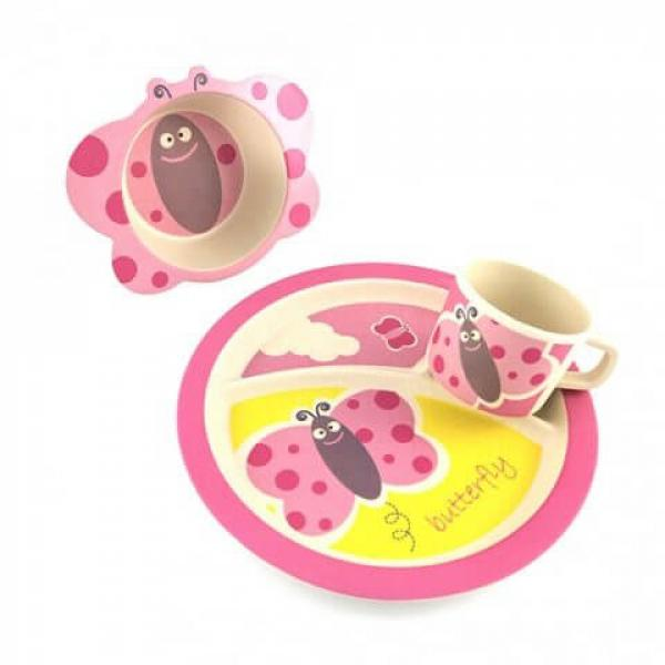 Bamboo Dish Set - Butterfly