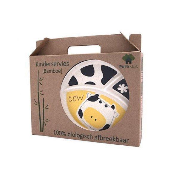 Bamboo Dish set - Cow