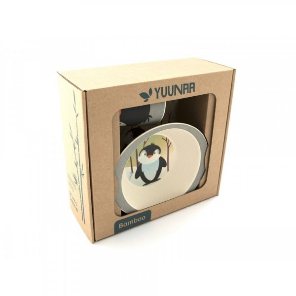 Bamboo Dish set - Penguin *** out of stock ***