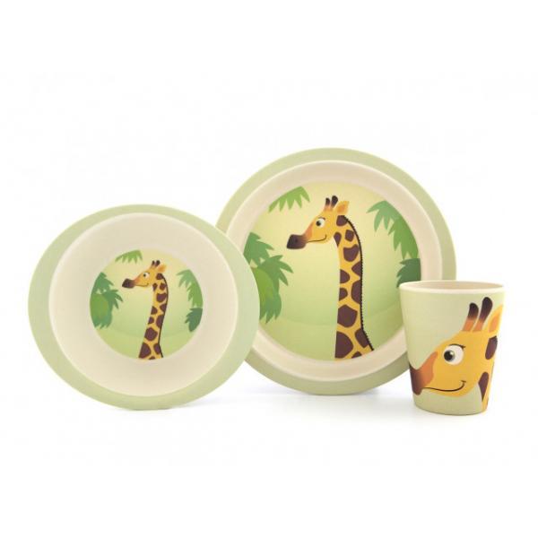 Bamboo Dish set - Giraffe