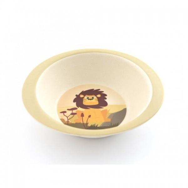 Gyermek étkészlet bambuszból, oroszlán